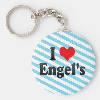 I Love Engel s Russia Keychain