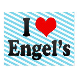 I Love Engel's, Russia Postcard