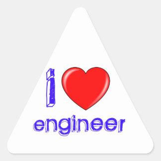 I Love Engineer Triangle Sticker