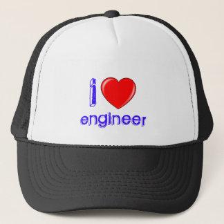 I Love Engineer Trucker Hat