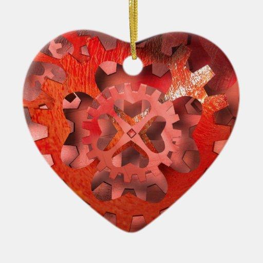 I love engineering double sided heart ceramic christmas