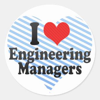 I Love Engineering Managers Round Sticker
