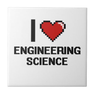 I Love Engineering Science Digital Design Small Square Tile