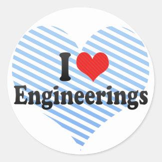 I Love Engineerings Stickers