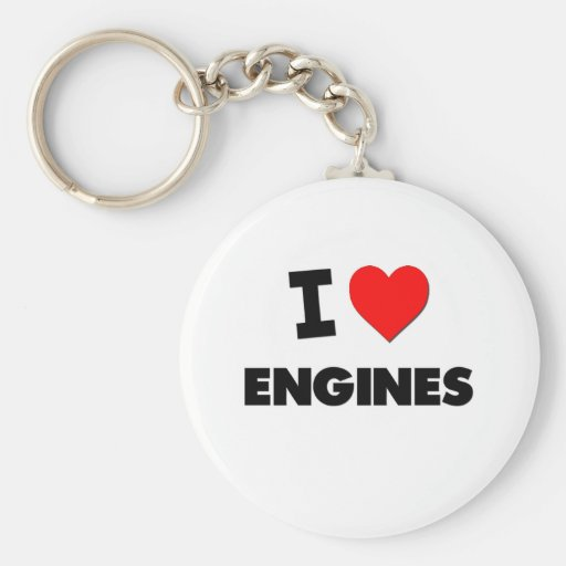 I love Engines Key Chains