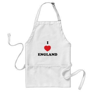 I LOVE England Adult Apron