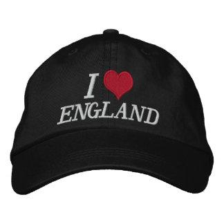 I Love England Embroidered Baseball Hat