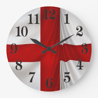 I Love England Flag of St George Patriotic Large Clock