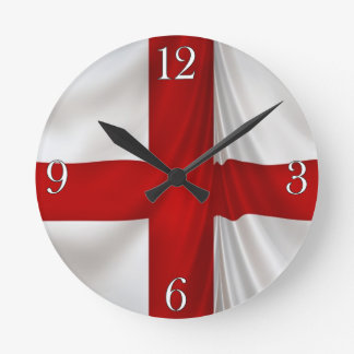 I Love England Flag of St George Patriotic Round Clock