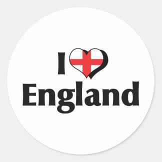 I Love England Flag Sticker