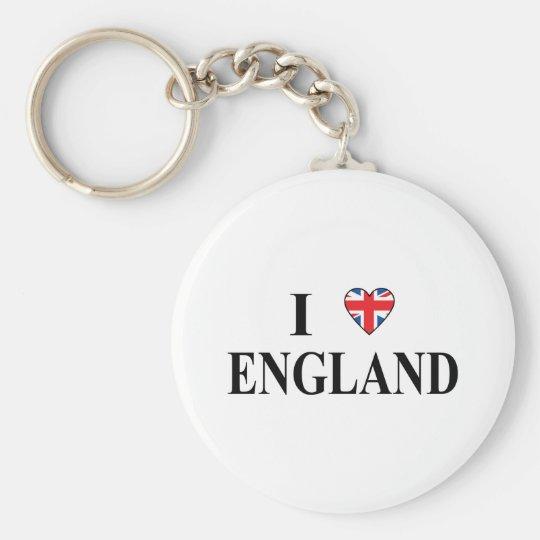 I Love England Keychain