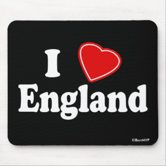I Love England Mouse Pad