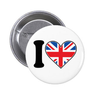 I Love England Pinback Button