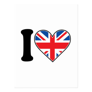 I Love England Postcard