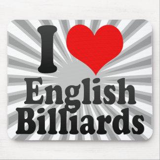 I love English Billiards Mouse Pad