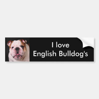 I love English Bulldog's Bumper Sticker