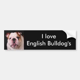 I love English Bulldog's Bumper Sticker