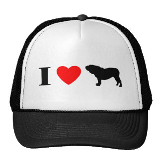 I Love English Bulldogs Hat