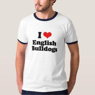 I Love English Bulldogs T-Shirt