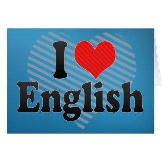 I Love English Card
