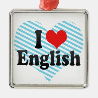 I Love English Christmas Ornaments