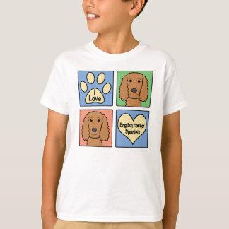 I Love English Cocker Spaniels T-Shirt