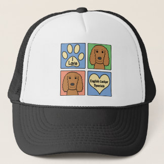 I Love English Cocker Spaniels Trucker Hat