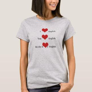 I love English Grammar TESOL ESL Teacher Student T-Shirt