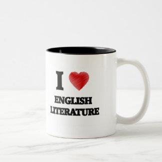 I love ENGLISH LITERATURE Two-Tone Coffee Mug