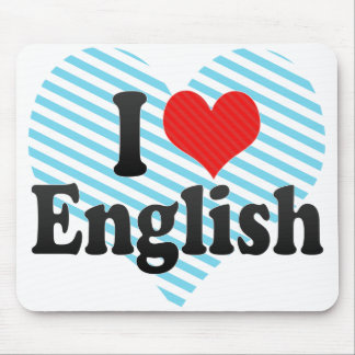 I Love English Mouse Pad