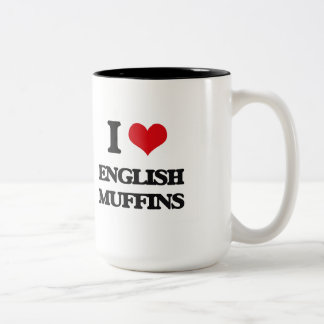 I love English Muffins Two-Tone Mug