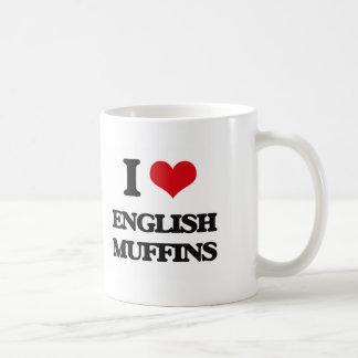 I love English Muffins Basic White Mug