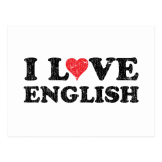 I Love English Postcard
