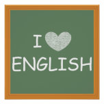 I Love English Poster
