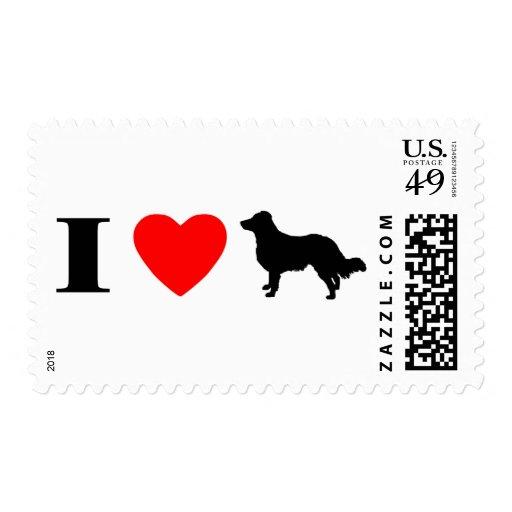 I Love English Shepherds Stamps