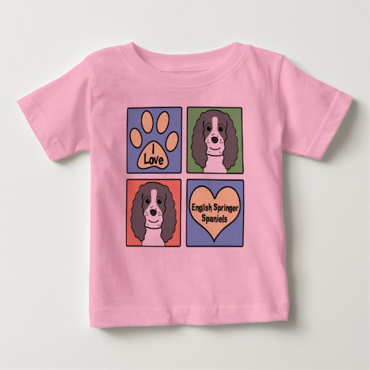 I Love English Springers Baby T-Shirt