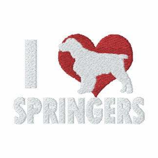 I Love English Springers Embroidered Long Sleeve