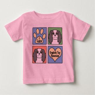 I Love English Toy Spaniels Baby T-Shirt