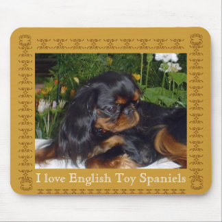 I Love English Toy Spaniels Mouse Pad