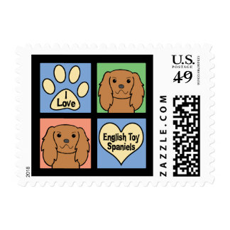 I Love English Toy Spaniels Postage