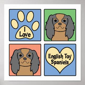 I Love English Toy Spaniels Print
