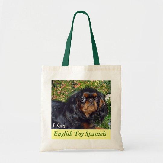 I Love English Toy Spaniels Tote Bag