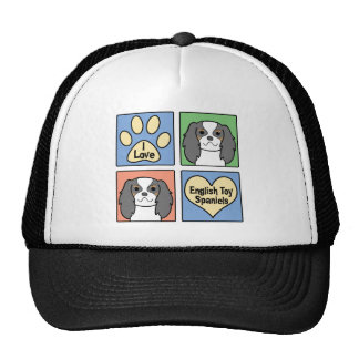 I Love English Toy Spaniels Trucker Hat