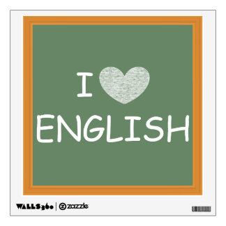 I Love English Wall Decal