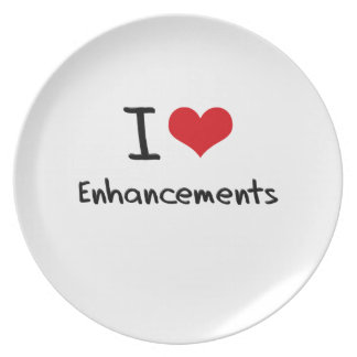 I love Enhancements Party Plate