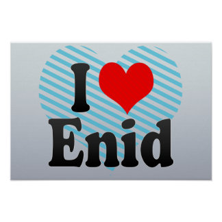 I Love Enid, United States Posters