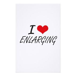 I love ENLARGING Stationery