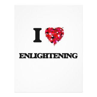 """I love ENLIGHTENING 8.5"""" X 11"""" Flyer"""