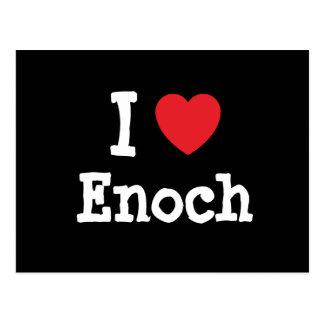 I love Enoch heart custom personalized Postcard