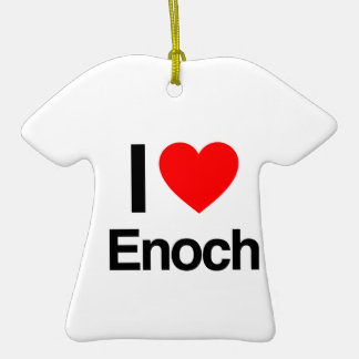 i love enoch Double-Sided T-Shirt ceramic christmas ornament